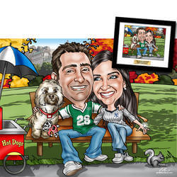 Romantic Caricature Captures Your..