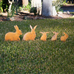 Bunny Family Garden Sculptures -..