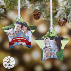 Personalized Photo Star Christmas..