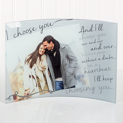 Personalized Romantic Photo Curved..