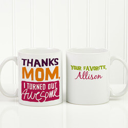 Personalized Coffee Mug - Thanks..