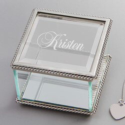 Personalized Glass Jewelry Box..