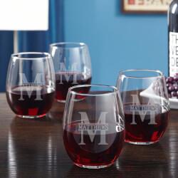 Oakmont Engraved Stemless Wine..