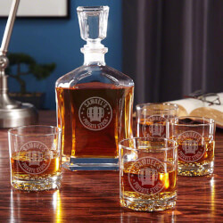 Private Stock Whiskey Glass And..