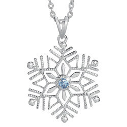Birthstone And Diamond Snowflake..