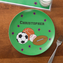 Personalized Boys Dinner Plate -..