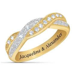 Diamond Duet Personalized Ring