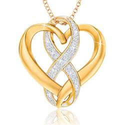 Infinite Love Diamond Heart Pendant