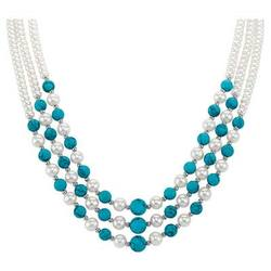 Pearl & Turquoise Cascade Necklace