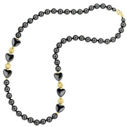 Fiery Elegance Hematite Necklace