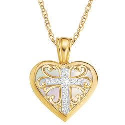 My Daughter Forever Diamond Cross..