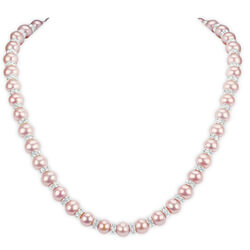 Pretty In Pink Pearl Necklace