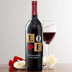 Personalized Wine Bottles - Love
