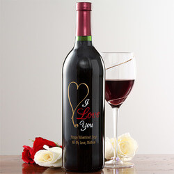 Personalized Wine Bottles - Heart