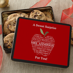 Personalized Teacher Gift Cookie..