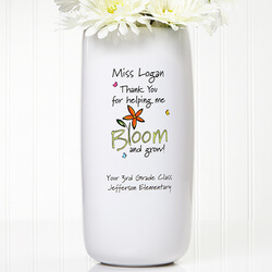 Personalized Teacher Vase - Bloom..
