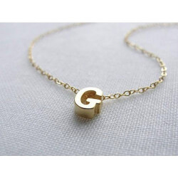 Olive Yew Jewels: Gold Initial..