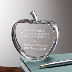 Personalized Crystal Apple Teacher..