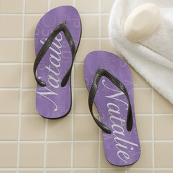 Personalized Ladies Flip Flops -..