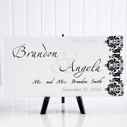 Personalized Wedding Canvas Art -..