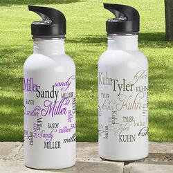 Personalized Aluminum Water Bottle..