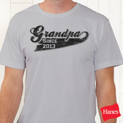 Personalized Grandfather T-Shirt -..