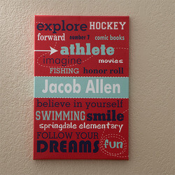 Boys Personalized Canvas Art - His..