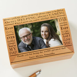Personalized Photo Keepsake Box -..