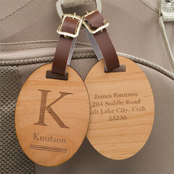 Personalized Wood Luggage Tags -..
