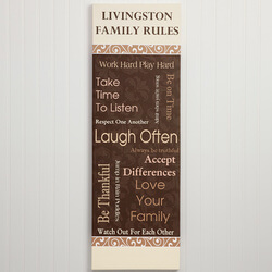 Personalized Family Rules Canvas..