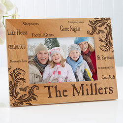 Engraved Wood Picture Frames -..