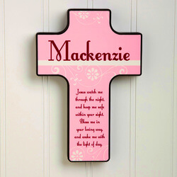 Personalized Kids Wall Cross -..