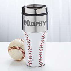 Personalized Baseball Travel Mug