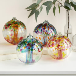 Recycled Glass Tree Globes -..
