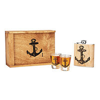 Down The Hatch Flask Set