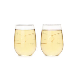 Have & Hold Stemless Wine Glasses..