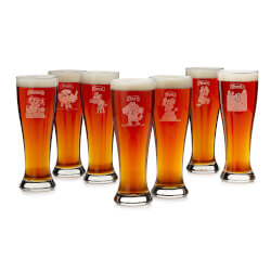 7 Deadly Sins Pilsner Glasses -..