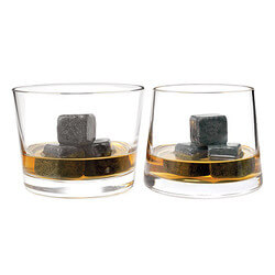 Whiskey Stones & Rocks Glass Set