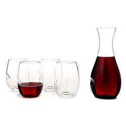Shatterproof Wine Glasses And Carafe