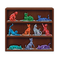 Crystalline Cat Figurines Inspired..