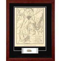 Framed Battle Of Gettysburg Map..