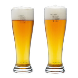 HTML Beer Glasses - Set Of 2
