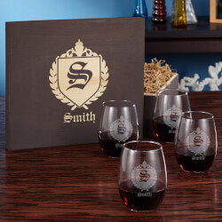 Oxford Stemless Wine Glass Gift..