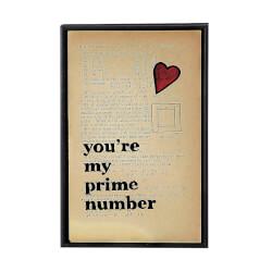 Youre My Prime Number Vintage Print