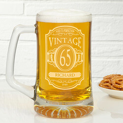 Personalized Birthday Beer Mugs -..