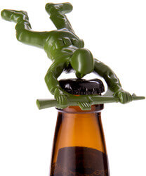 Die-Cast Metal Army Man Bottle..