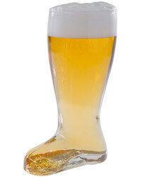 Hand-Blown Giant Glass Beer Boot
