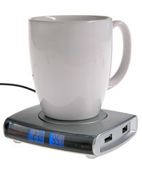 USB Drink Warmer With 4-Port USB Hub
