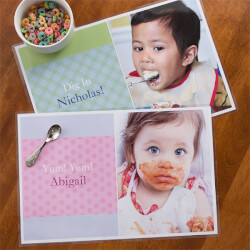Personalized Photo Placemat For Kids