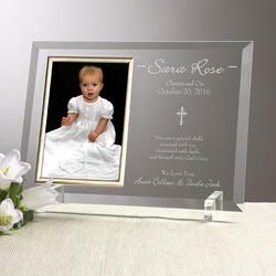 Engraved Christening Picture..